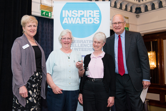 Carshalton group members receiving the Inspire award